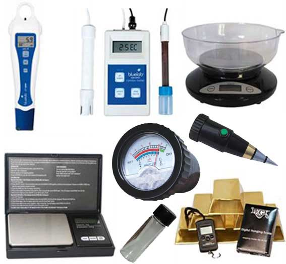 Measuring Devices, ph testers, ec, ppm, meters